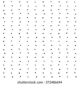 Seamless pattern. Black dots big vertical rows.