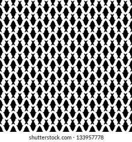 Seamless pattern with black fish