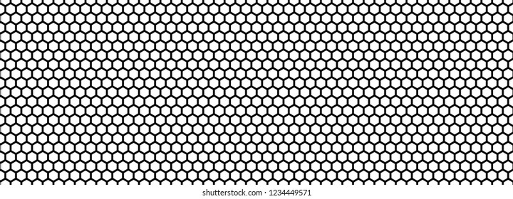 Seamless pattern of the black hexagonal netting