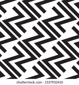 Seamless pattern with black letter N.