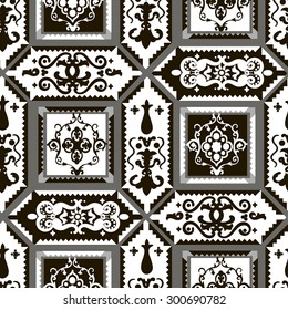 seamless pattern black and white colors