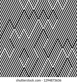 seamless pattern with black and white segments