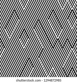seamless pattern with black and white stripes