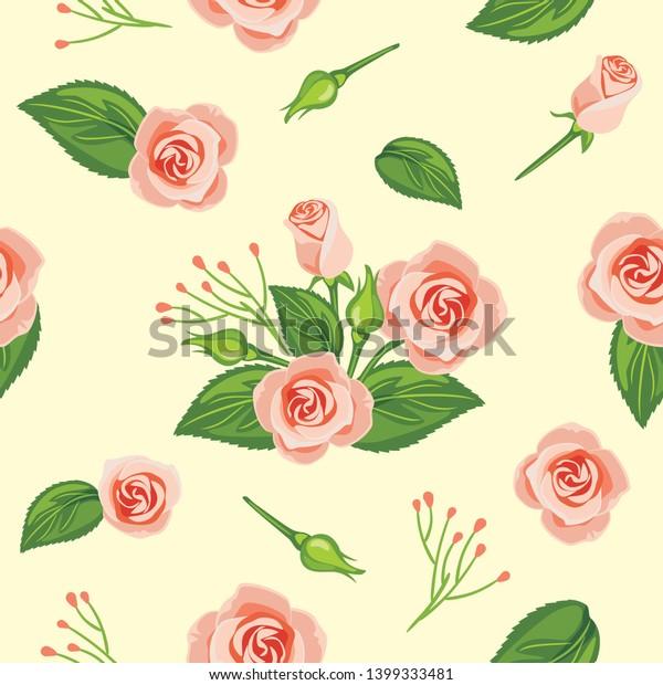 seamless-pattern-blooming-pink-rose-600w
