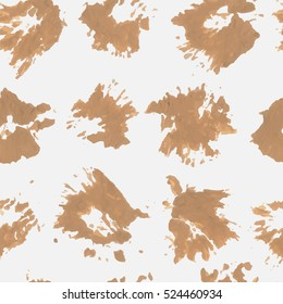 Seamless pattern blots. Slightly desaturated color orange on a very light gray background. For printing on fabric, paper, computer, web, etc. Vector.
