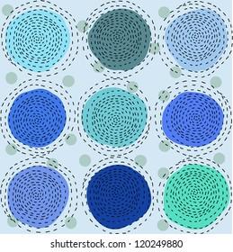 Seamless pattern with blue pattern