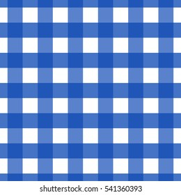 Seamless pattern blue checkered. Merry Christmas and Happy New Year decoration. Vector backdrop.