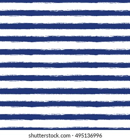 Seamless pattern with blue grunge stripes. Vector illustration
