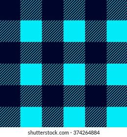 Seamless pattern. Blue plaid. Pattern In swatch.
