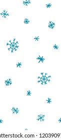 seamless pattern of blue snowflakes