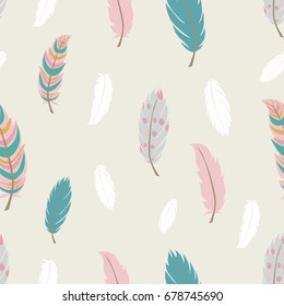 Seamless pattern in boho style. Vector illustration