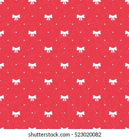 Seamless pattern with bows for web, print, wallpaper, packaging, wrapping, background for invitation, greeting card or holiday decor. Christmas decorative pattern.