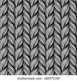 Seamless pattern of braids. endless stylish texture