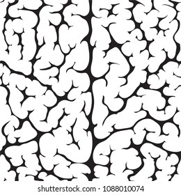 seamless pattern of the brain texture