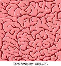Seamless pattern with brains Vector illustration background.