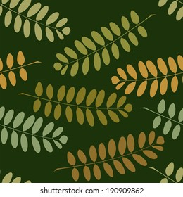 Seamless pattern with a branches of acacia