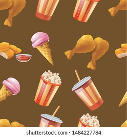 seamless pattern with brown background