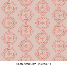 seamless pattern with brown background, vector background