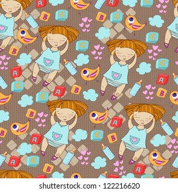 Seamless pattern can be used for wallpaper, pattern fills, web page background,surface textures