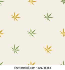 seamless pattern with cannabis leaves for your design