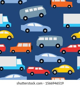 seamless pattern car for fabric use and background