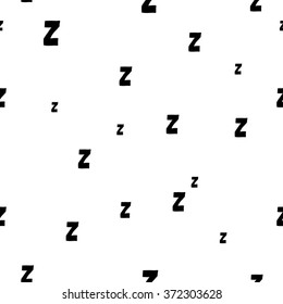 Seamless pattern with cartoon letters z. Can be used for wallpaper, pattern fills, greeting cards, webpage backgrounds, wrapping paper, scrap booking and textile or fabric. Vector illustration. EPS 10