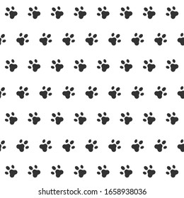 Seamless Pattern Cat Vector Paw