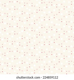 Seamless pattern with chaotic dots. Vector soft texture