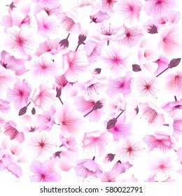 Seamless pattern with cherry blossom, Blossom, Sakura Flowering Spring Festival Hanami.