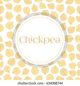 Seamless pattern of chickpea, Bengal gram, chick peas. Made in cartoon flat style.