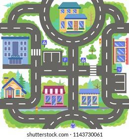 Mapa Ciudad Para Niños.Imagenes Fotos De Stock Y Vectores Sobre Mapa Ciudad