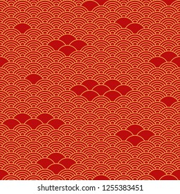 Seamless pattern in chinese style.