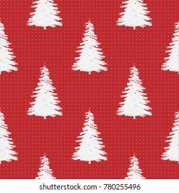 Seamless Pattern of Christmas Tree, Modern  and Creative Festive Textile, Gift Wrap, Wall Art Design, Merry Christmas Festive Pattern,  Winter Scandinavian Forest