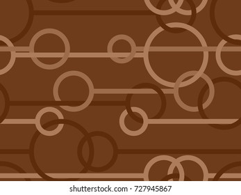 Seamless pattern with circles and lines in brown from the Flat UI palette
