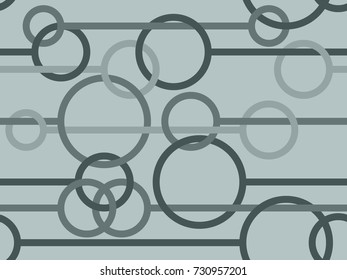 Seamless pattern with circles and lines in grey from the Flat UI palette
