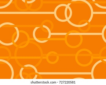 Seamless pattern with circles and lines in Orange from the Material Design palette