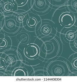 seamless pattern with circles on the water