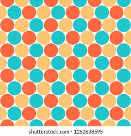 Seamless pattern with circular shapes. Quick and easy recolorable shape. Vector illustration a graphic element