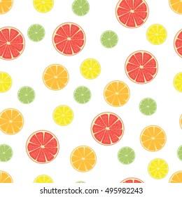 seamless pattern citrus rings