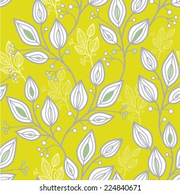 seamless pattern with climbing plants