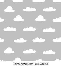 seamless pattern, cloud art  background design for fabric and decor