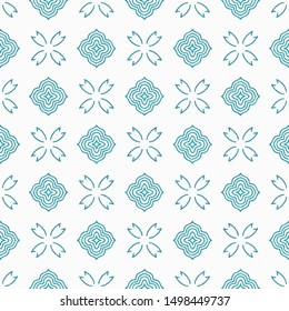 Seamless Pattern clouds Abstract batik tiles mosaic vector for background, backdrop, cover letter, website, design, invitation, wallpaper, floormat.