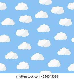 Seamless pattern. Clouds. Clouds pattern. Clouds background.