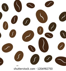Seamless pattern coffee beans. Vector. For your design.