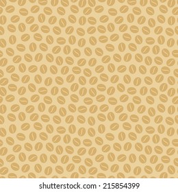 Seamless pattern with coffee beans. Vector illustration, EPS 8.