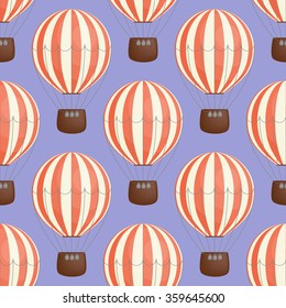 Seamless pattern: color balloons