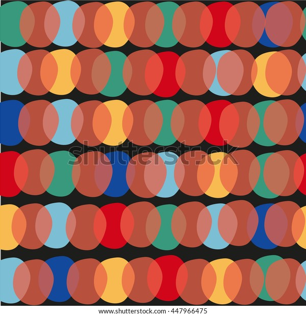 Seamless pattern with color ovals. Colored background with bright figures. The colored ovals.