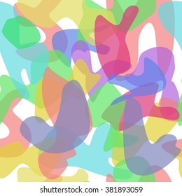 Seamless pattern colored spots. Color texture with transparency.