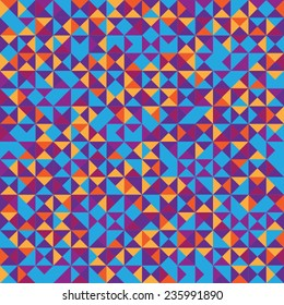 Seamless pattern of colored triangles