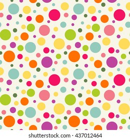 Seamless pattern with colorful circles. Bright background